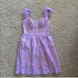 For Love And Lemons Dresses - Valentina Lace Mini Dress
